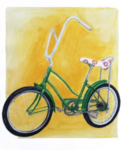 Banana Bike bicycle art prints