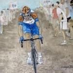 Ryder Hesjedal On Cobbles sports art