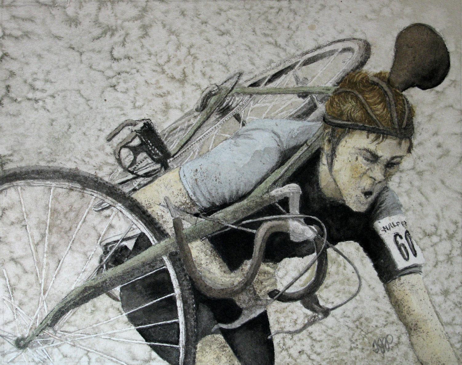 Carrying Bike sports art