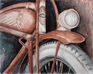 Rusty '38 bicycle art prints