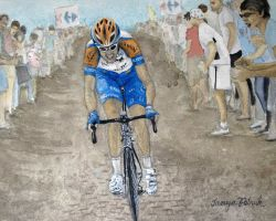 Ryder Hesjedal On Cobbles sports art