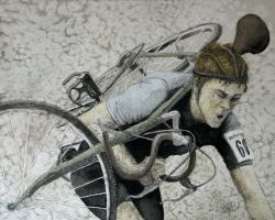 Carrying Bike sports art